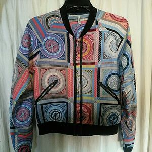 Jackets & Blazers - exquisite unique light jacket, xs.silk, abstract.